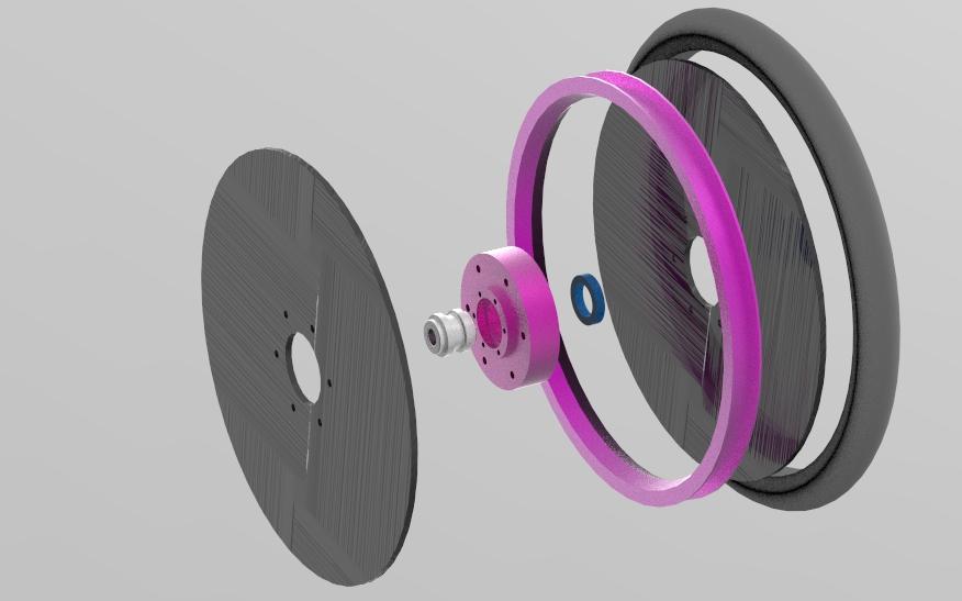 Second flat wheel design iteration